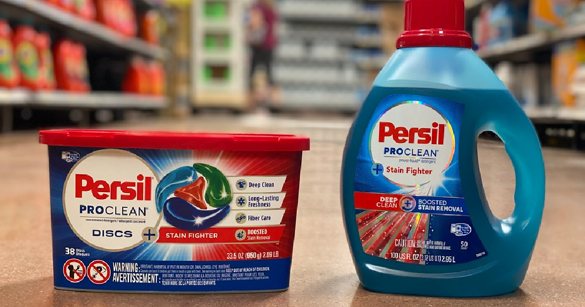 Over $10 Worth of Persil Cash Back Offers = Up to 40% Off Laundry Detergent at Walmart