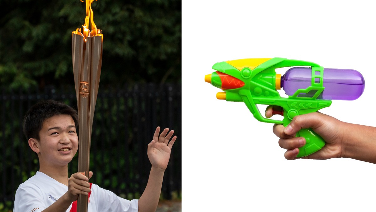 Woman Arrested for Trying to Put Out the Olympic Torch With Water Gun
