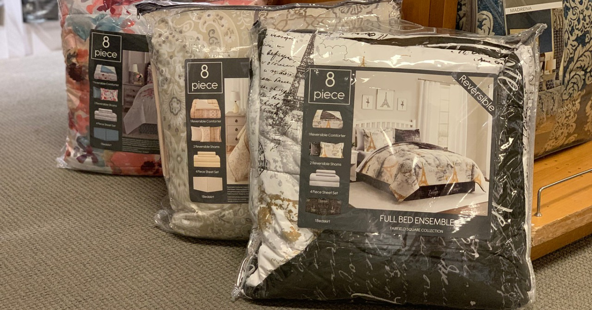Reversible Comforter 8-Piece Sets ALL Sizes Only $29.99 Shipped on Macys.com (Regularly $100)
