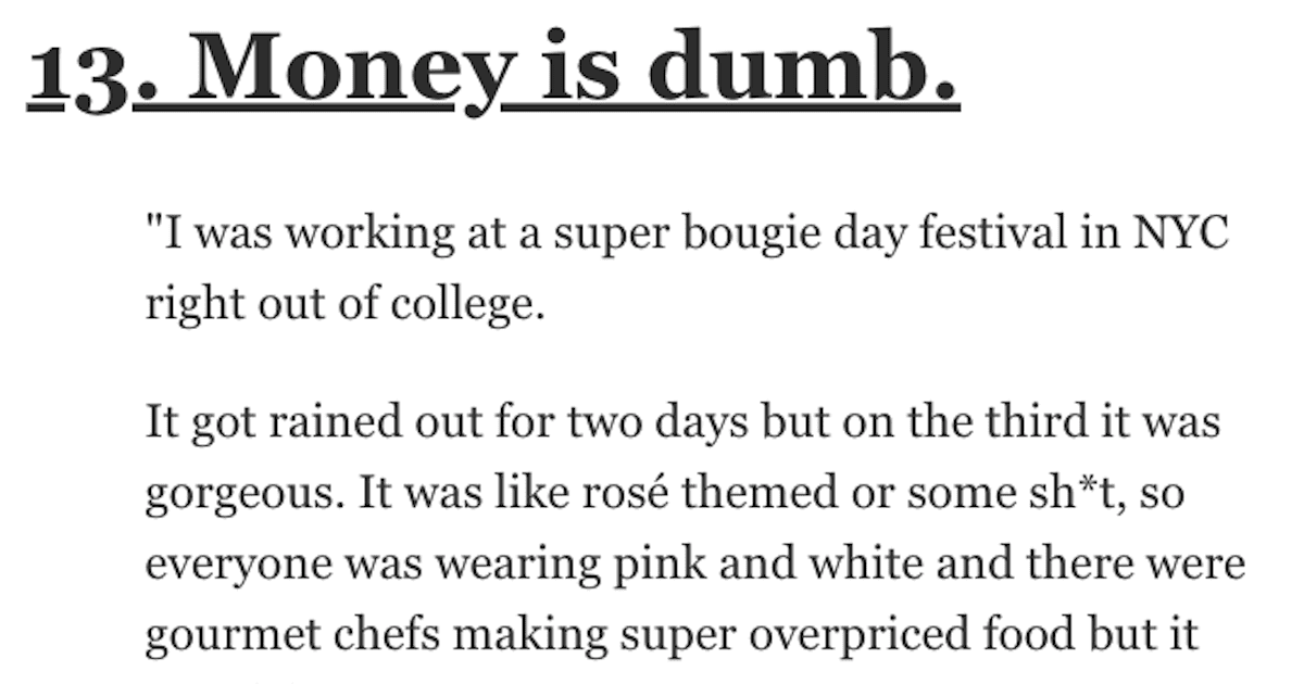 People Share the Weirdest Thing They've Found at a Music Festival or an Event
