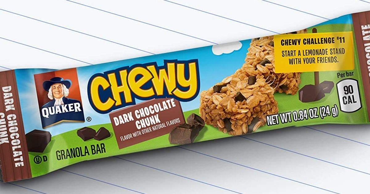 Quaker Chewy Bars 58-Count Variety Packs from $7.30 Shipped on Amazon