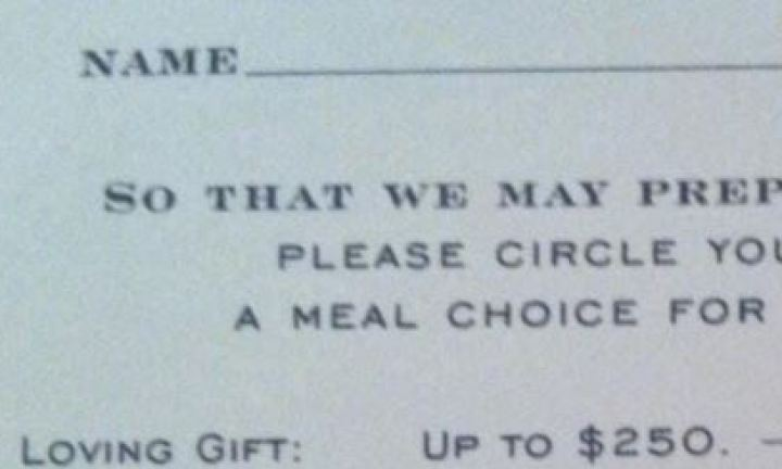 Guests asked cost of gift to determine what they get fed at wedding