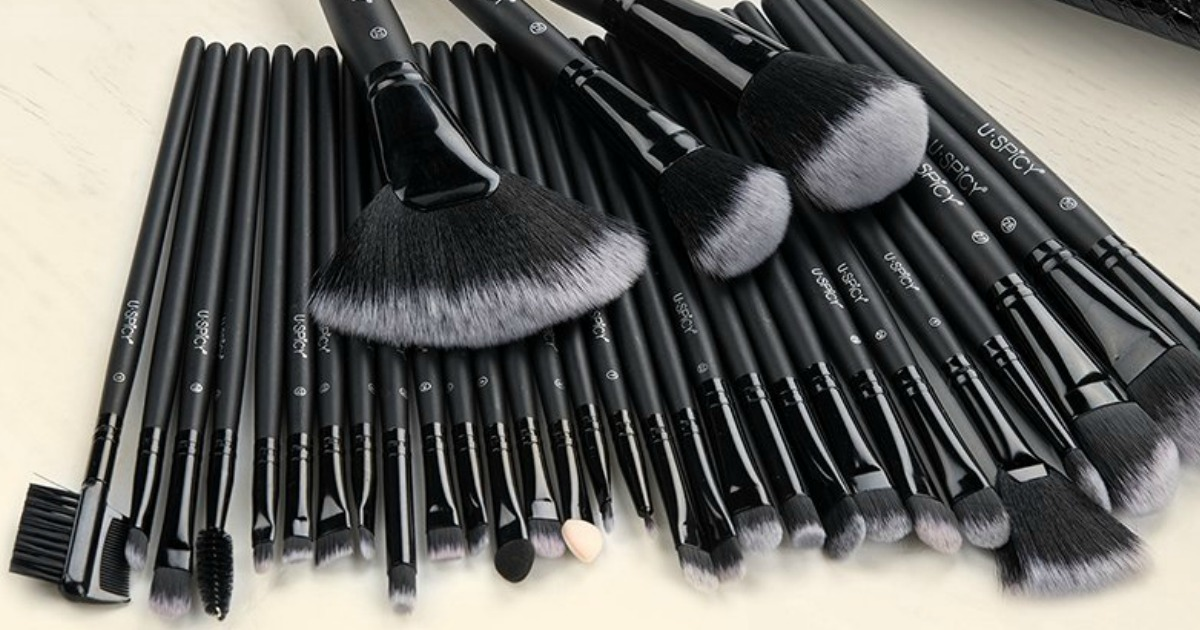 32-Piece Makeup Brush Set & Storage Bag Only $12.99 Shipped on Amazon