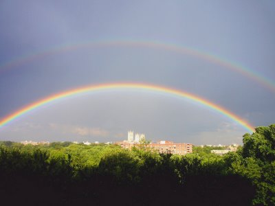 Q: Why do we only see one rainbow at a time?