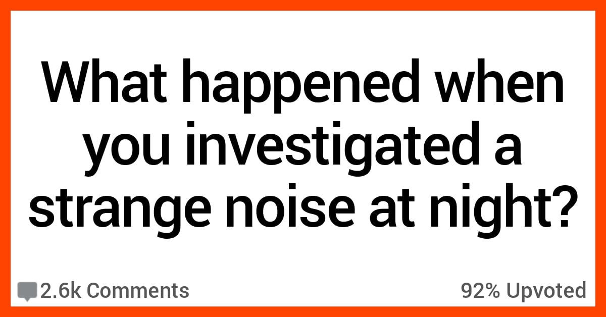 People Who Investigated a Strange Noise at Night Share What Happened