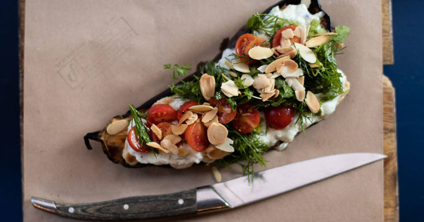 Recipe: How to make The Palomar's grilled aubergine