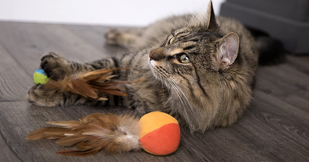 SmartyKat Cat Flutter Balls w/Catnip 2-Pack Only $2.50 Shipped on Amazon