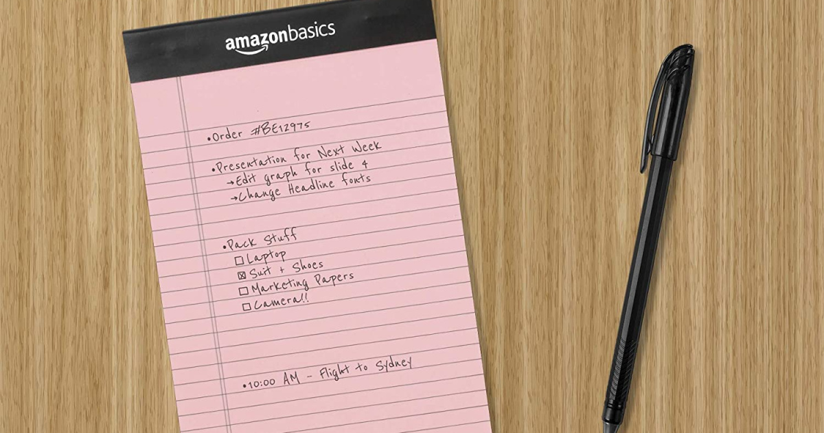 Amazon Basics Writing Pads 6-Pack Only $6.97 (Just $1.16 Each)
