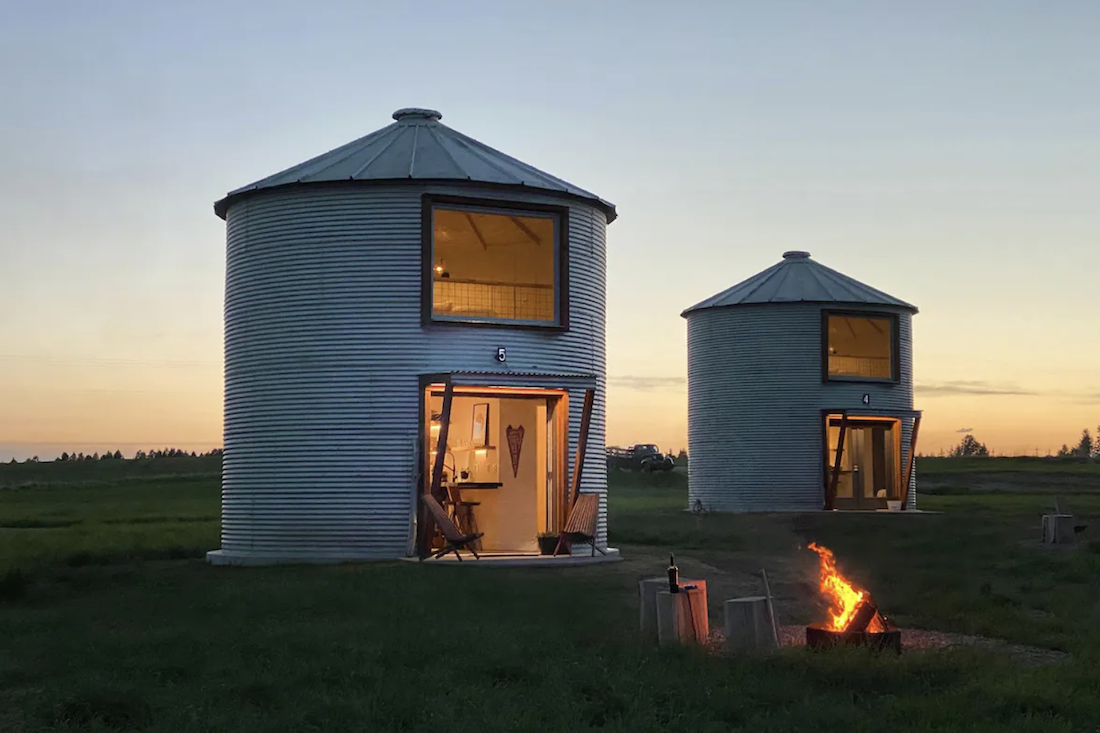 In Montana, Silo Yourself Away in These, Well, Silos