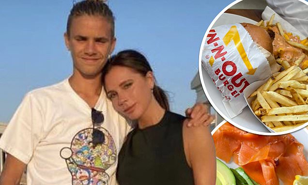 Victoria Beckham gives insight into healthy eating regime as she eats smoked salmon and avocado