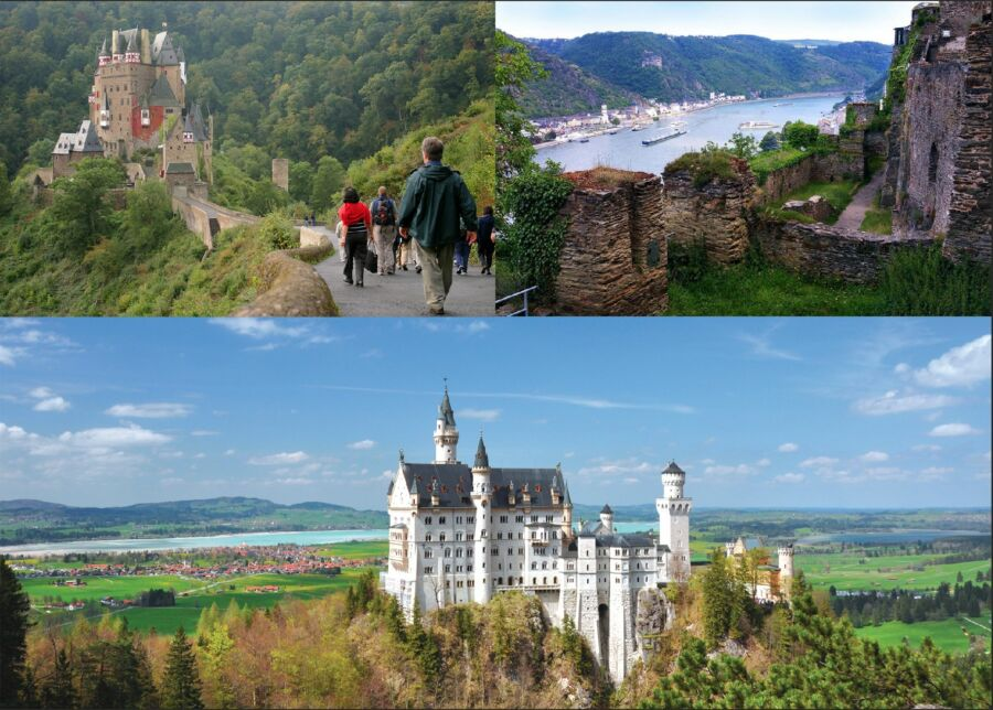 Three Castles: Eltz, Rheinfels, and Neuschwanstein