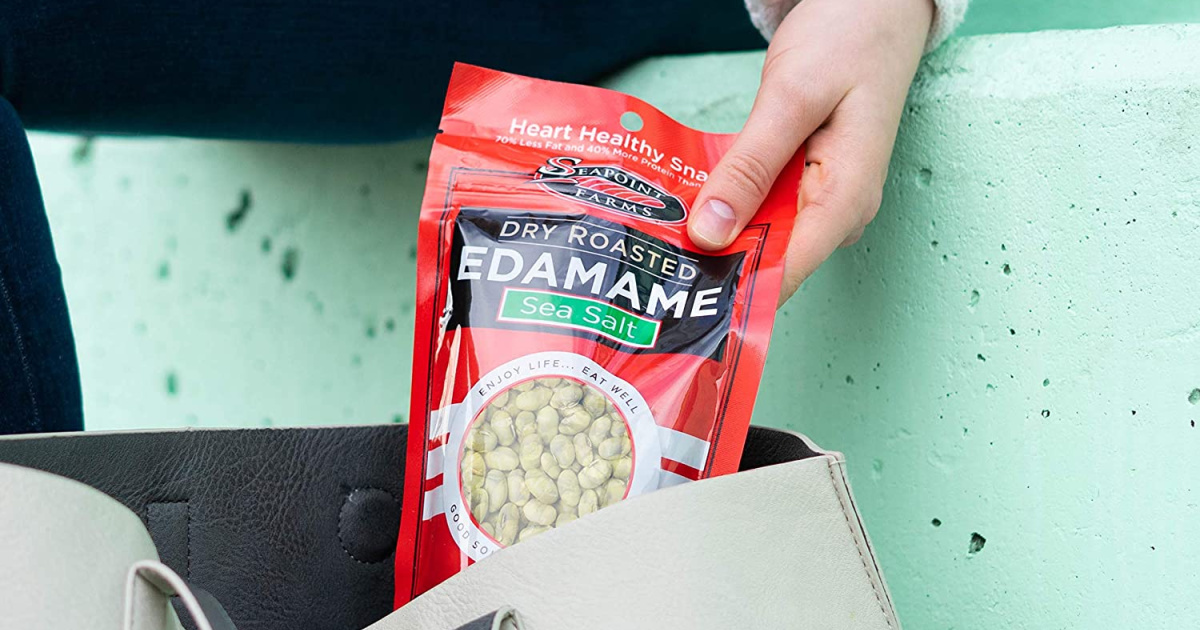 Dry Roasted Sea Salt Edamame 12-Pack Only $13 Shipped on Amazon (Just $1 Per Bag)