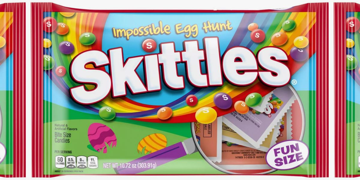 These New Skittles Packs Are Disguised In Grass Packaging To Make Easter Hunting Harder