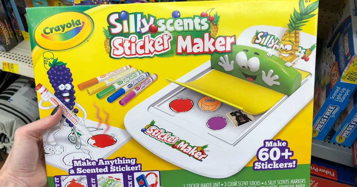 Crayola Silly Scents Sticker Maker Only $11.85 on Amazon (Regularly $20) + More Crayola Deals