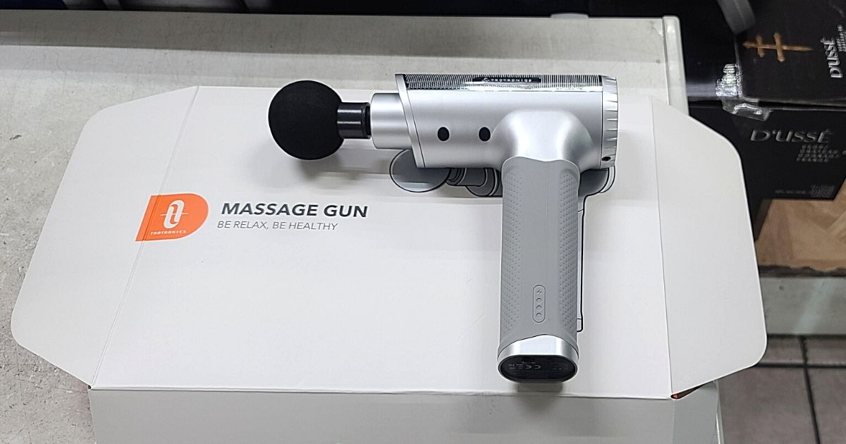 Highly Rated Deep Tissue Massage Gun w/ 6 Attachments Only $69.99 Shipped on Amazon