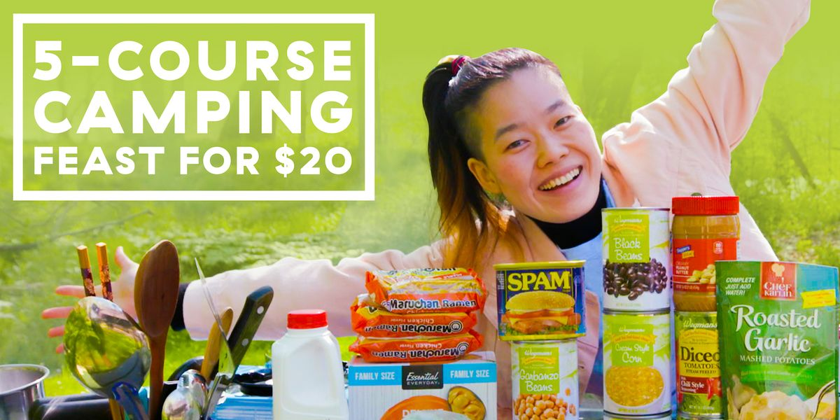 How To Feed 4 People On $20 While Camping — Budget Eats Goes Camping!
