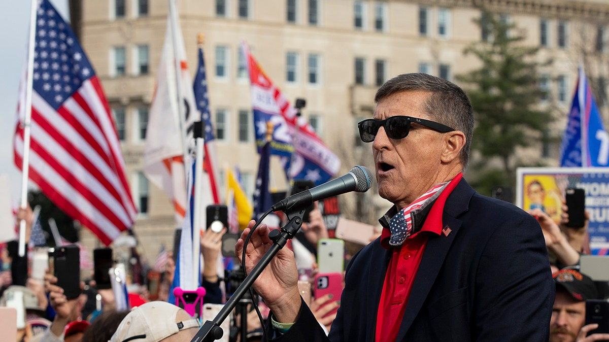 Michael Flynn Enlists QAnon to Pretend He Didn't Call For a Military Coup