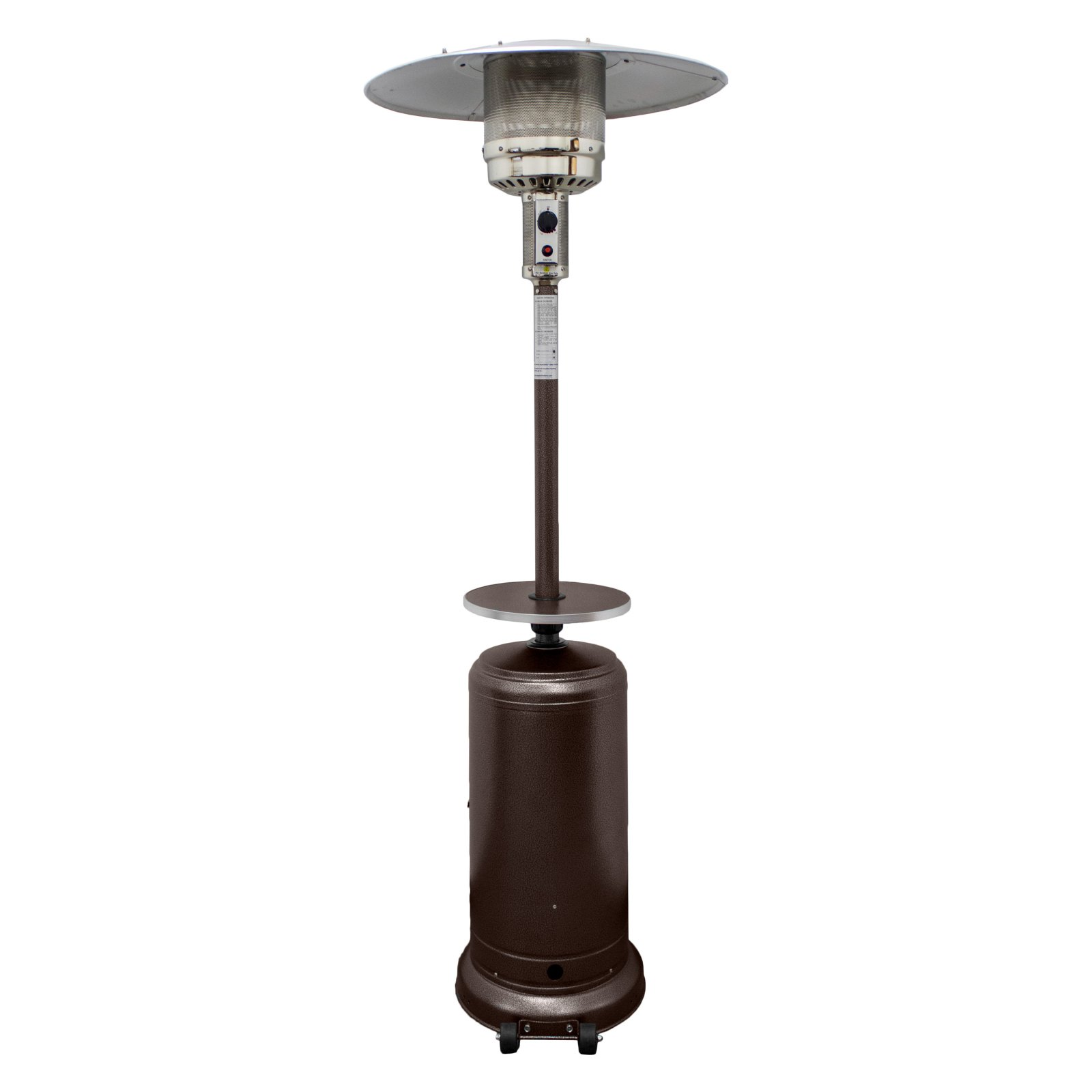 Hiland Tall Hammered Bronze Patio Heater with Table - Walmart.com