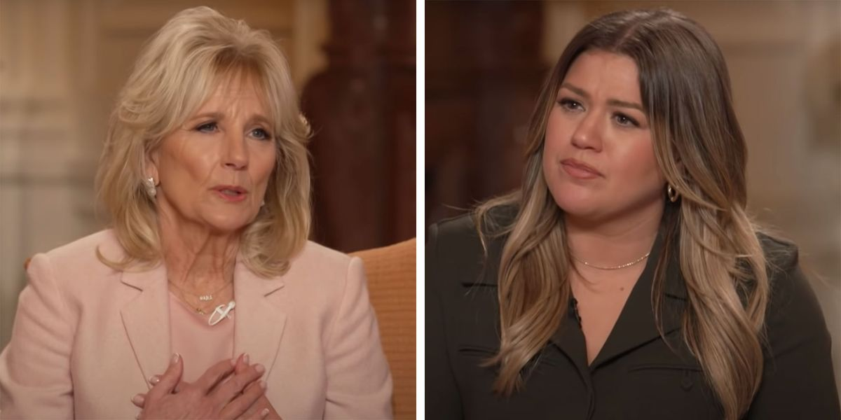 First Lady Dr. Jill Biden Gives Kelly Clarkson Personal Advice On Healing After Divorce