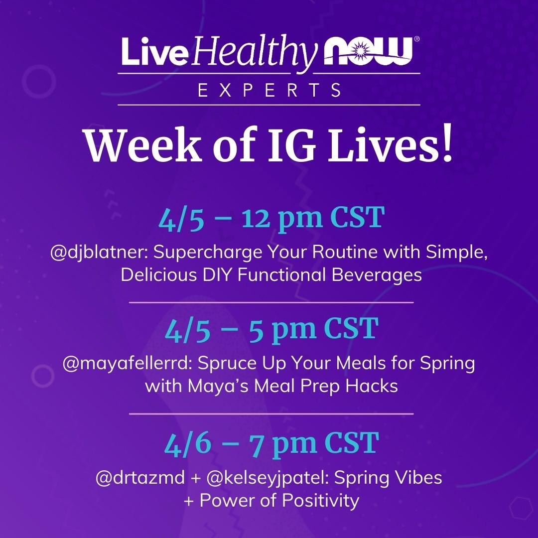 NOW® Partners with Seven Top Wellness Experts to Inspire People to #LiveHealthyNOW