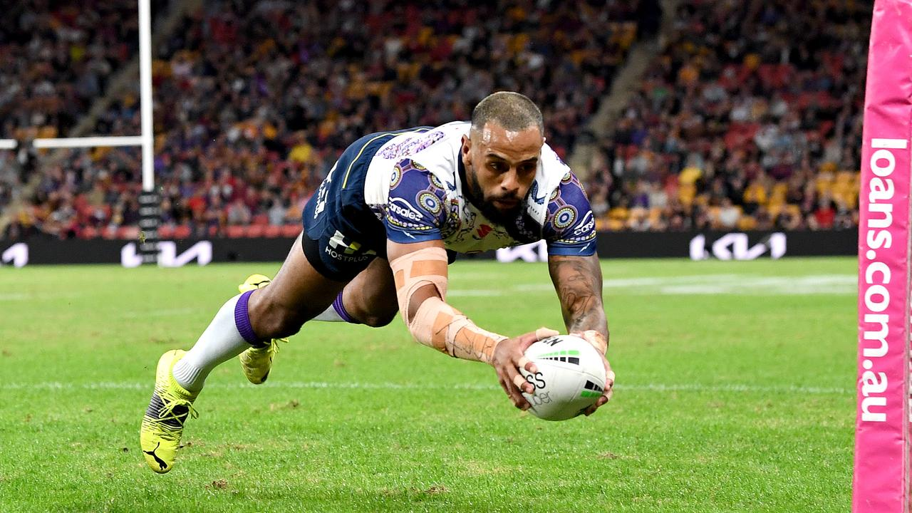 Melbourne Storm's Josh Addo-Carr is leading a tight race for the NRL's top try scorer