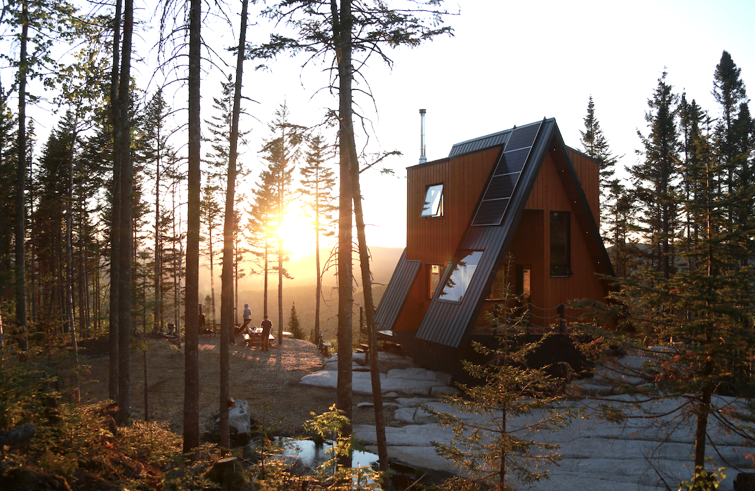 In Quebec, a Cabin Built for Mountain Bike Lovers