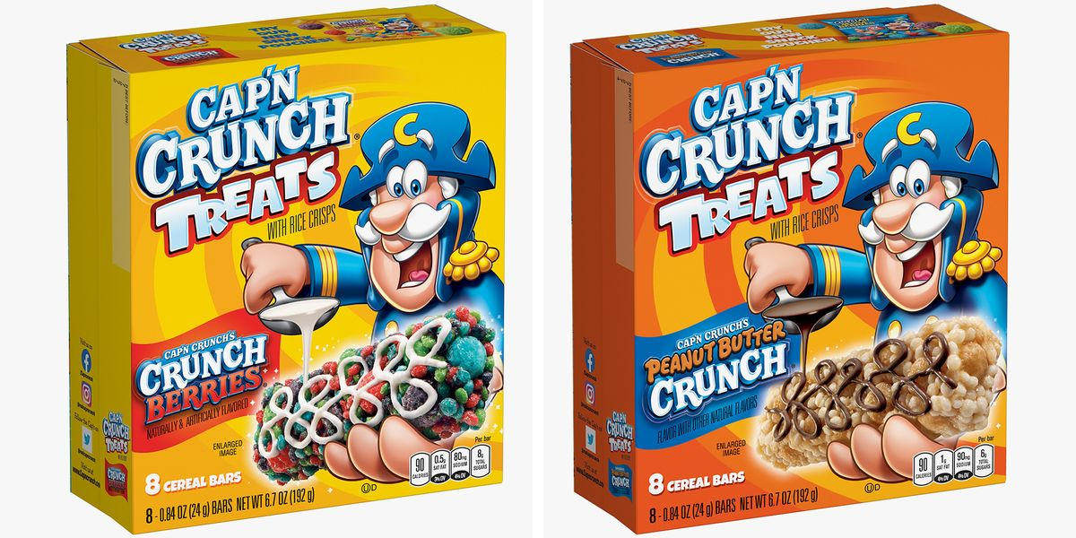 The New Cap'n Crunch Bars Come In Berries And Peanut Butter Varieties