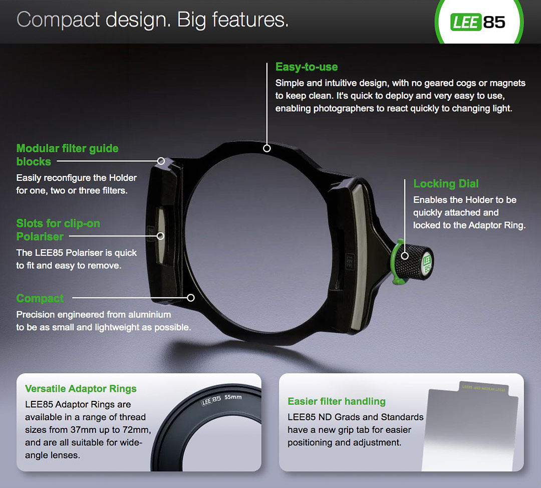 LEE Filters Launches the LEE85 Filter System