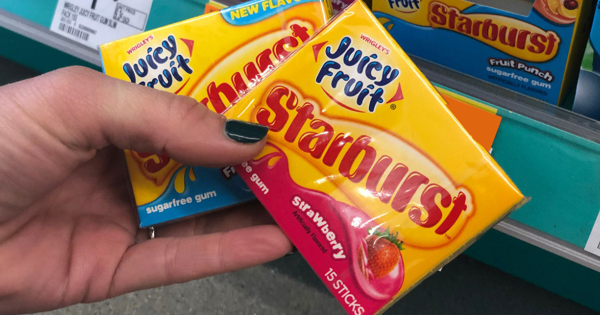 Juicy Fruit Starburst Gum Pack 10-Count Just $5.67 Shipped + More Gum Deals on Amazon