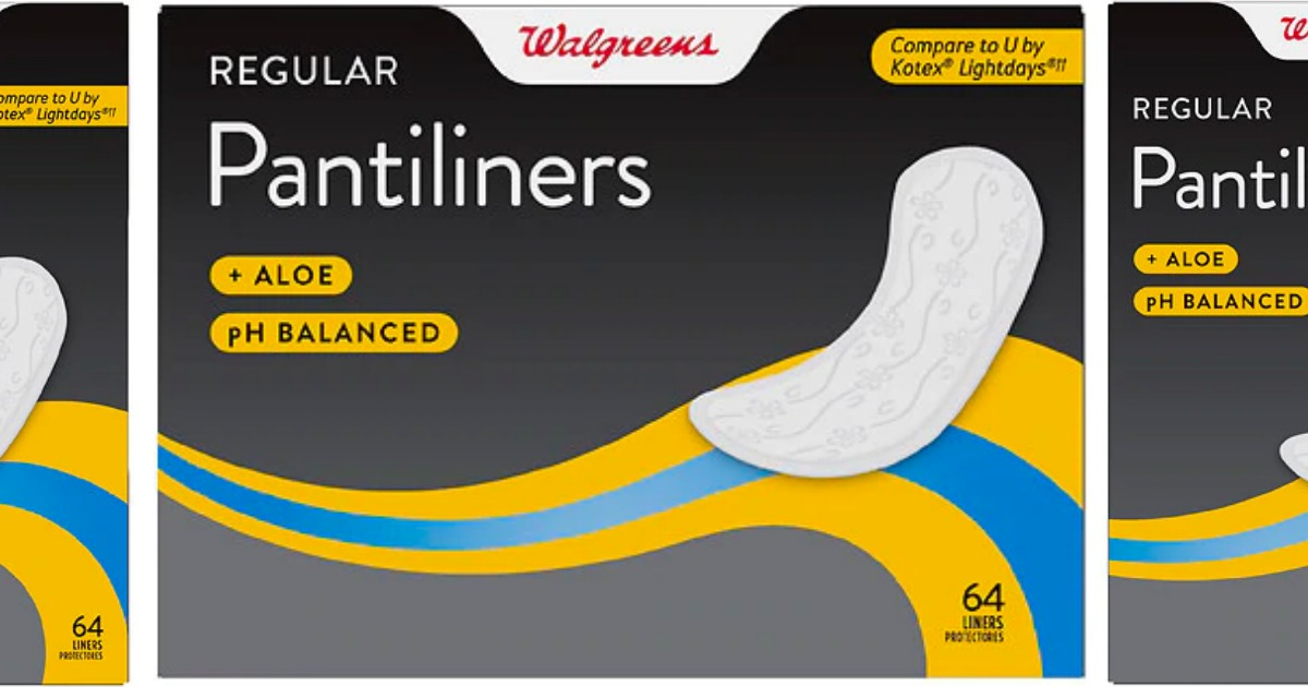 Walgreens Brand Pantiliners & Maxi Pad Packs Only 37¢ Shipped Each