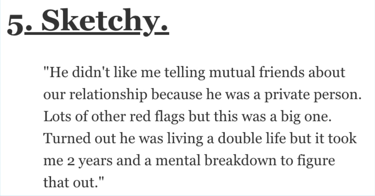 What Red Flag Do You Regret Glossing Over Early in a Relationship? Women Shared Their Stories.