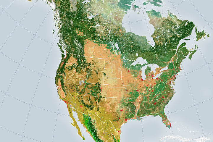 Satellite Mappers Have North America Covered