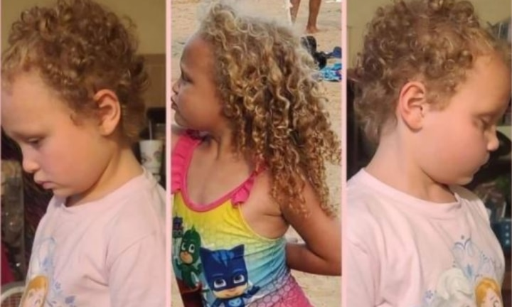 Dad outraged after teacher chops off 7yo girl's long curly blonde hair