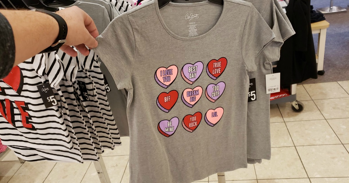 Valentine's Graphic Tees for the Family from $4 + Free Shipping for Kohl's Cardholders