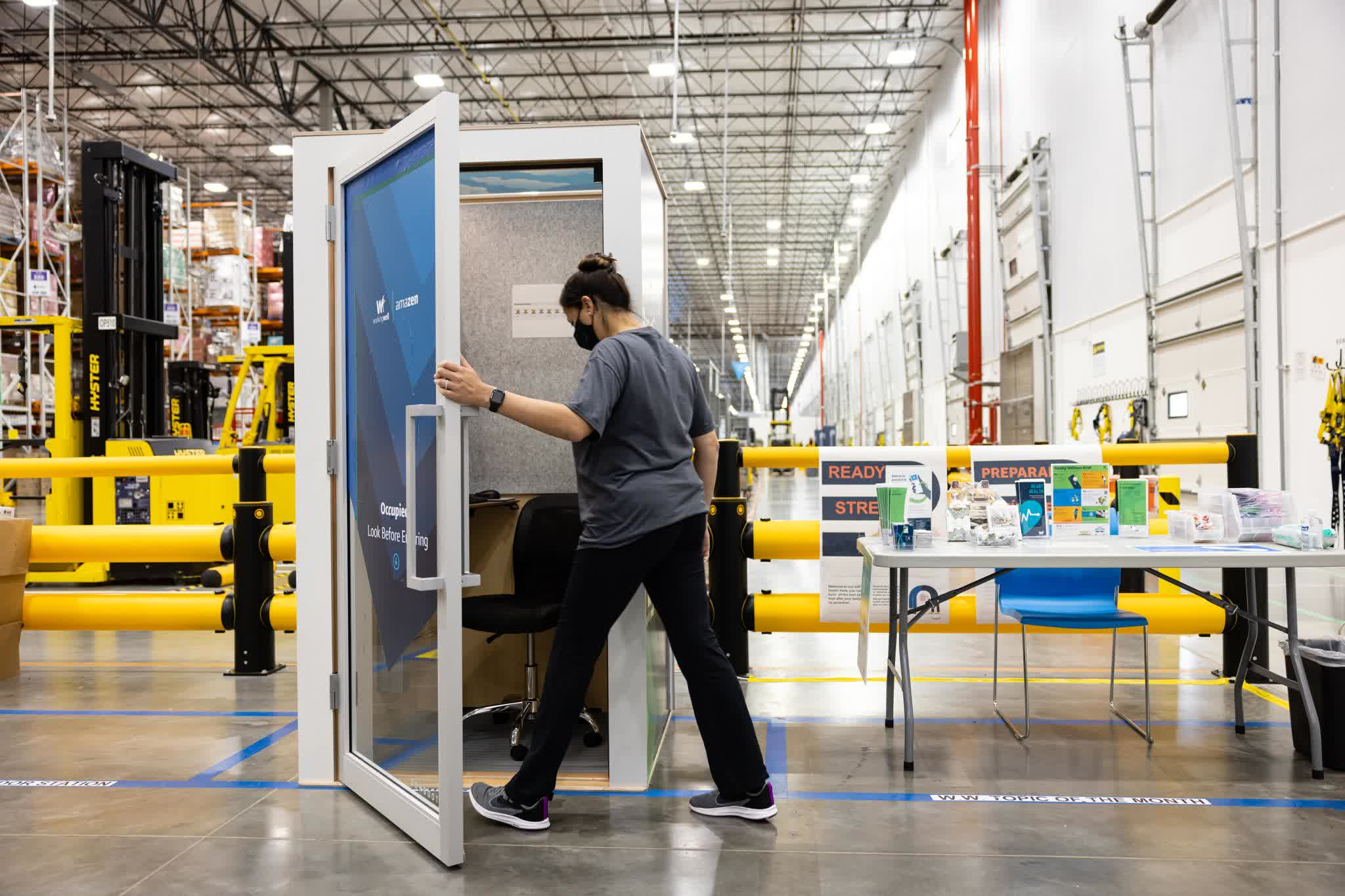 Amazon is installing 'individual interactive kiosks' at fulfillment centers to promote mindfulness practices