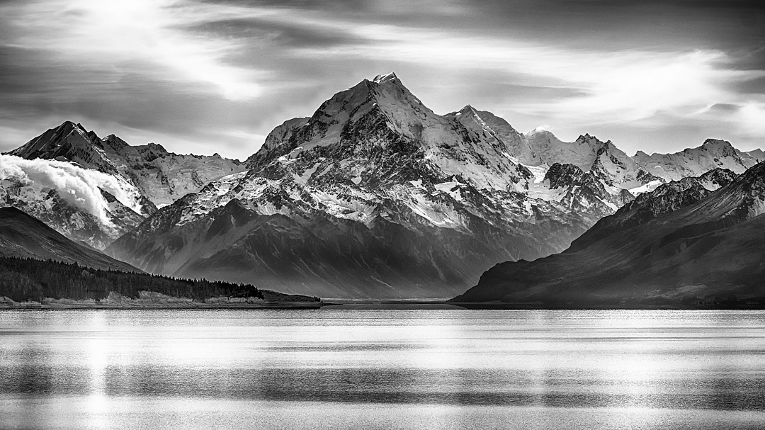 Mount Cook from Lake Tekapo, New Zealand by George Dyne