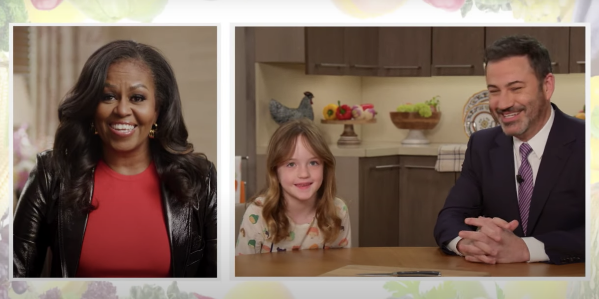 Michelle Obama Tried To Convince Jimmy Kimmel's Daughter To Eat Vegetables