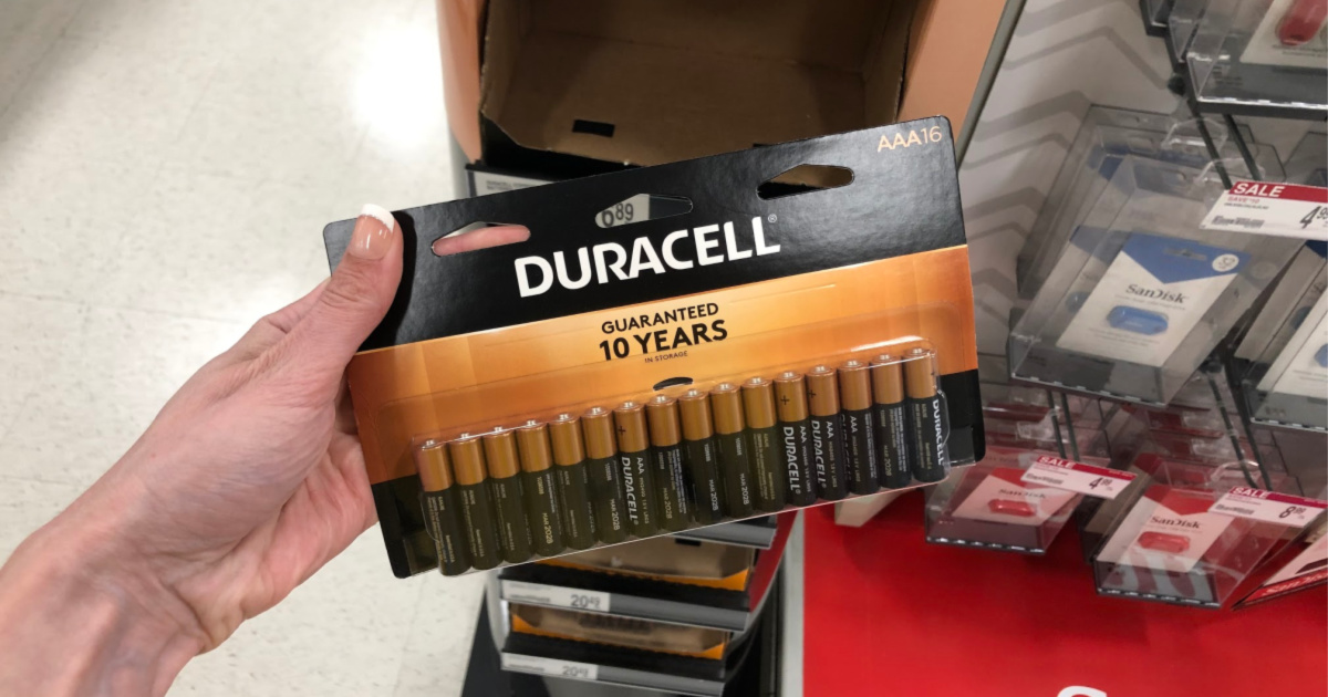 FREE Duracell Batteries After Office Depot Rewards