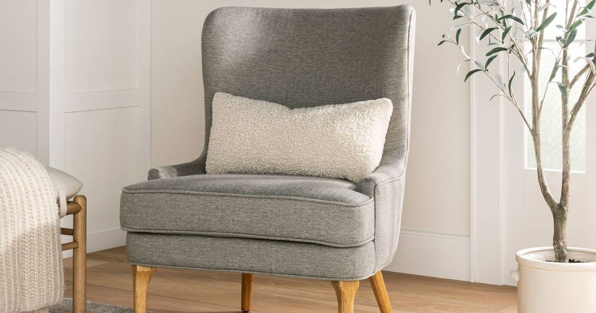 Threshold Wingback Chair Only $150 Shipped on Target.com (Regularly $300)