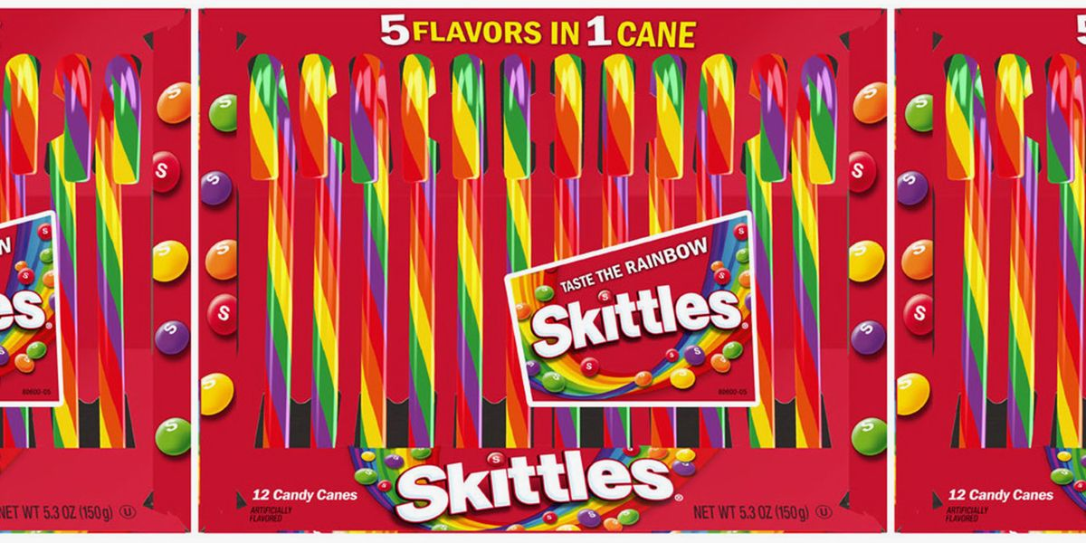 Move Over, Peppermint — The New Skittles Candy Canes Are On Our Christmas Wishlist