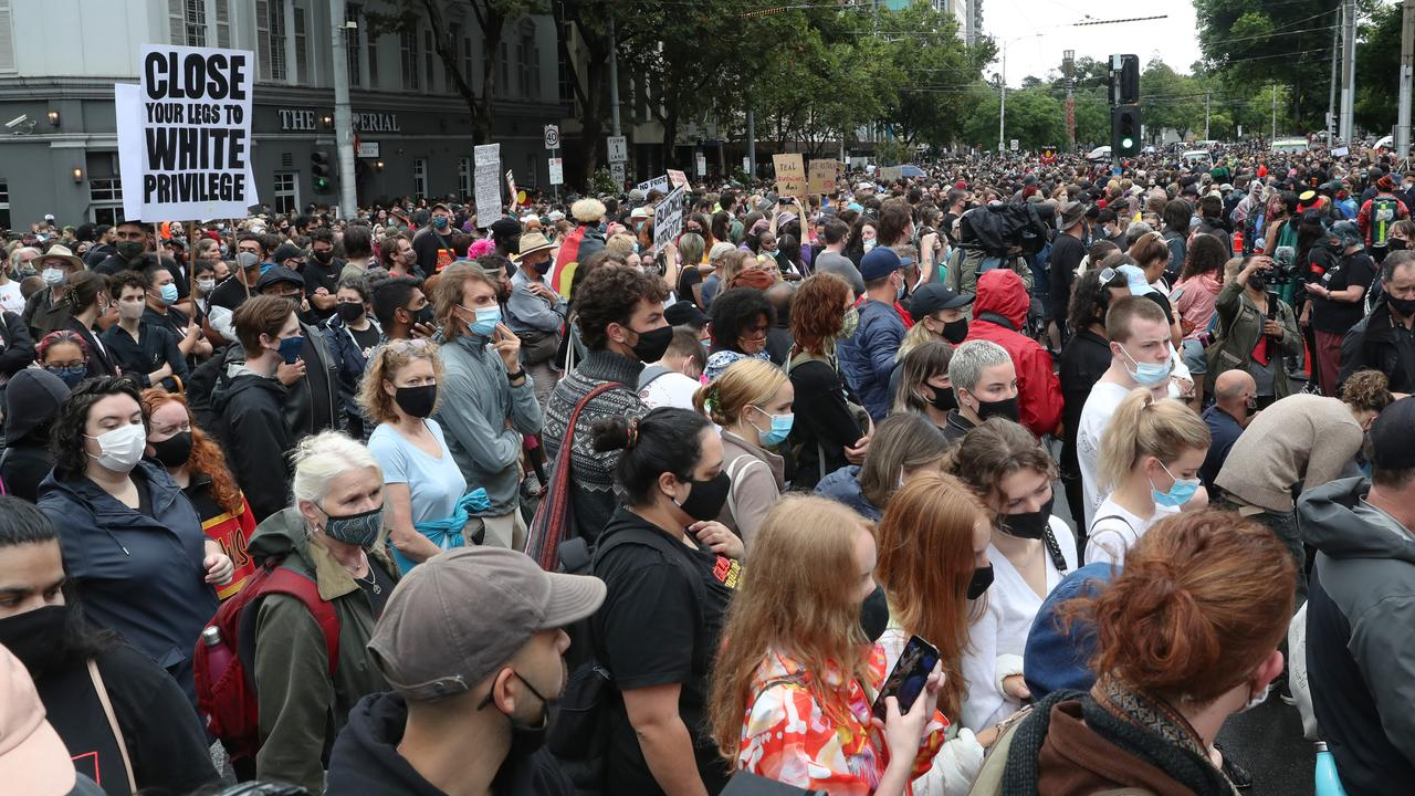 Melbourne Invasion Day protest: Huge crowds gather at state parliament