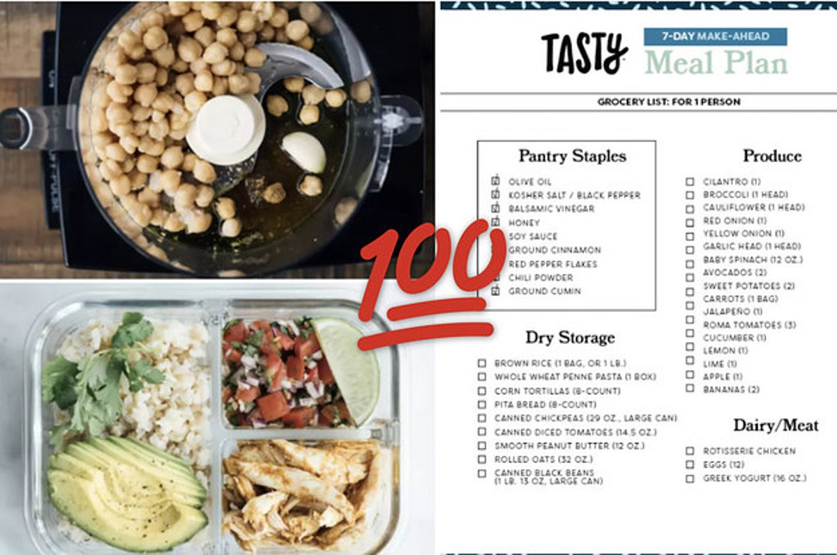Tasty's 7-Day Meal Plan Will Help Make Your Week So Much Easier