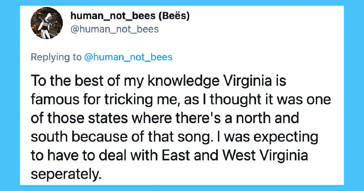 What One British Man on Twitter Makes of 11 States in the U.S.