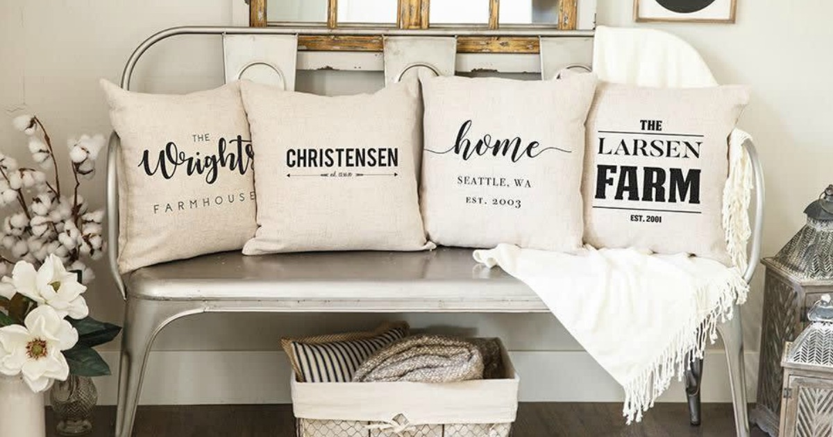 Custom Farmhouse Pillow Covers Only $9.99 Shipped (Regularly $25)
