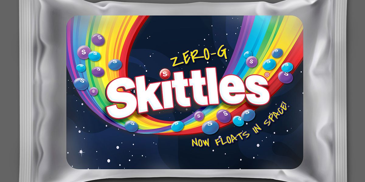 The New Skittles Zero-G Packs Only Feature Blue and Purple Candies to Look Like Outer Space