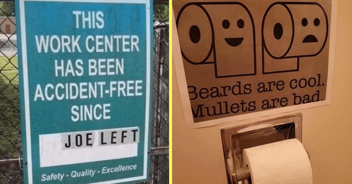 People Shared the Funniest Signs They've Seen Lately