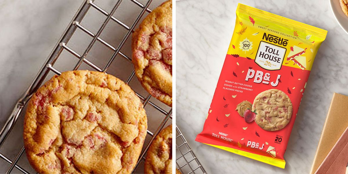 Nestlé Toll House's New Cookie Dough Was Inspired By Peanut Butter And Jelly Sandwiches