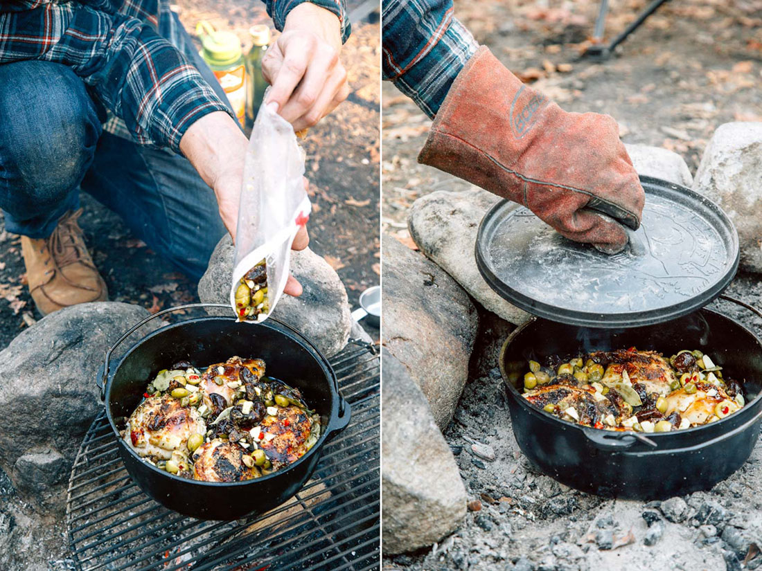 Gourmet, Easy, and Crazy Good Dutch Oven Chicken Marbella