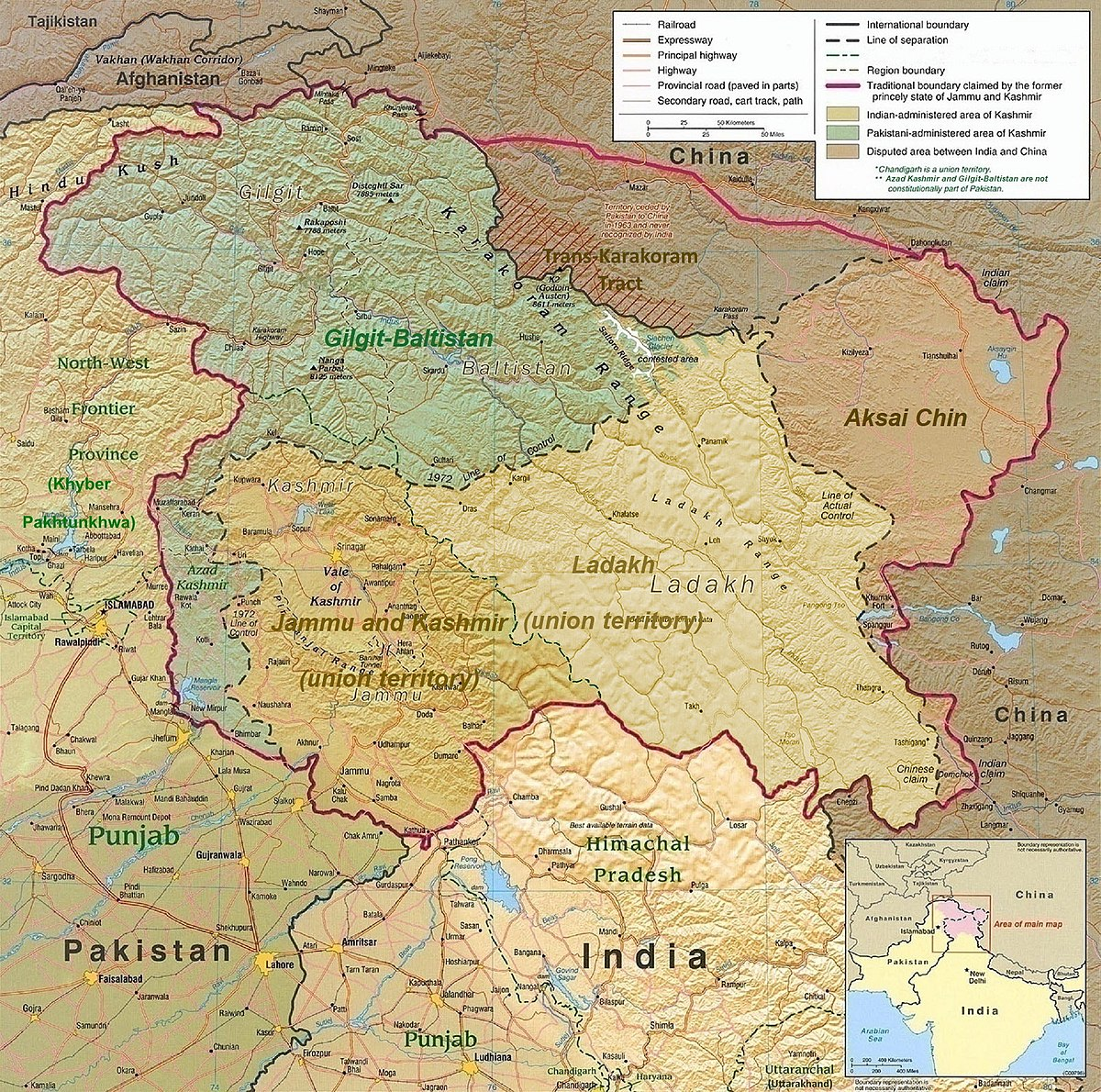 Revocation of the special status of Jammu and Kashmir