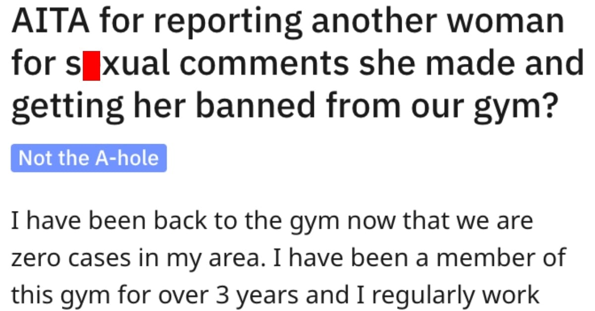 She Got a Woman Banned From the Gym for Inappropriate Comments. Was She Wrong?